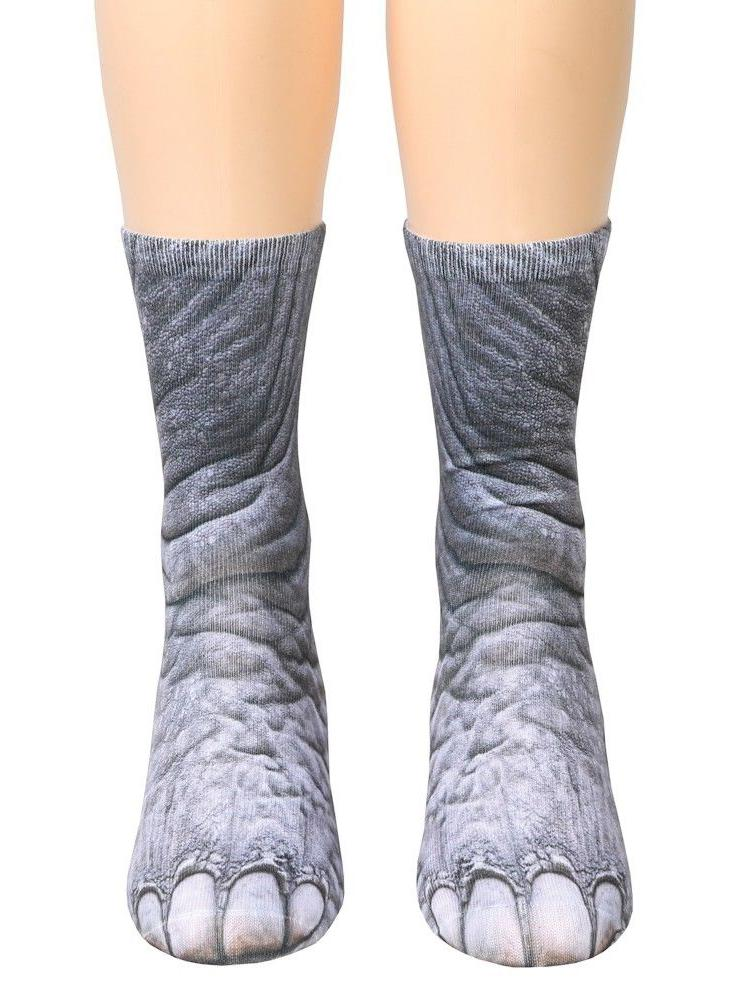 3D Animal Print Simulation Socks