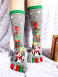 Christmas Five Finger Toe Long Socks