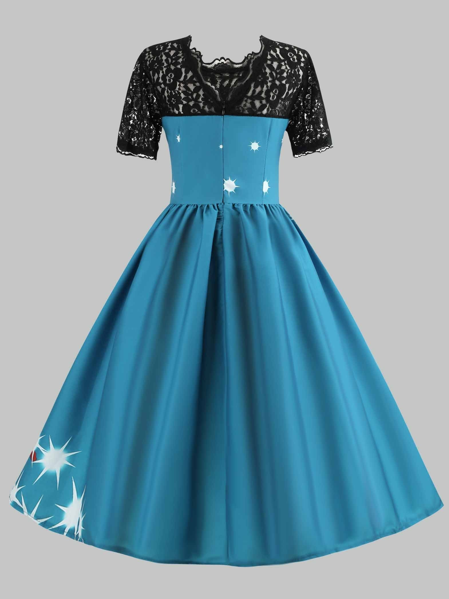 Christmas Fit and Flare Cocktail Dress