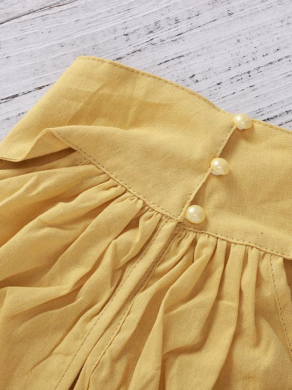 Halter Solid Color Bubble Skirt