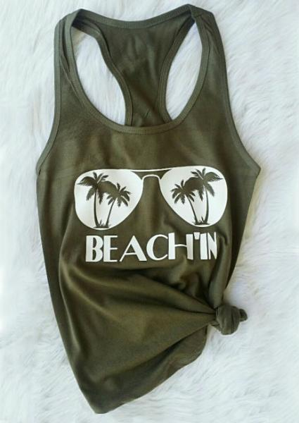 Beach'in Glasses O-Neck Tank
