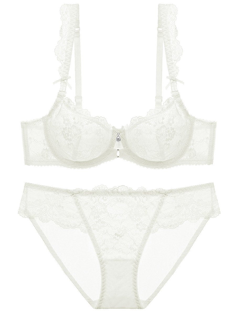 See Through Bow Sexy Lace Bra Set-Sexy Lace-Fechicin.com