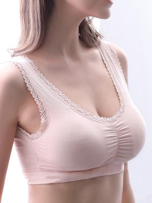 Wireless Comfortable Lace Border Bra-Wire-Free Bras-Fechicin.com