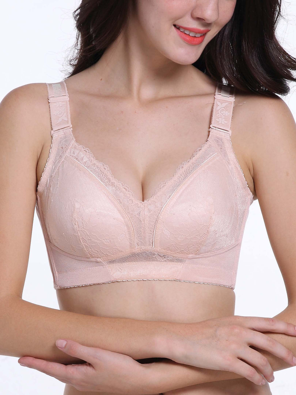 Wireless Comfortable Sexy Lace Bra-Plus Size Bras-Fechicin.com