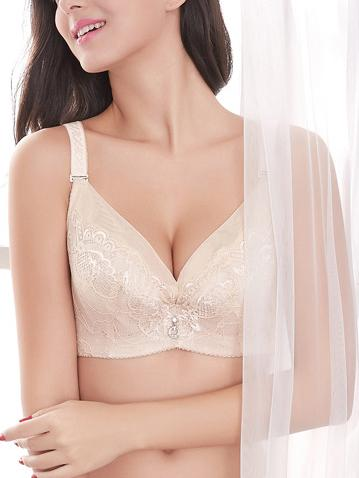Breathable Super Size Thin Lace Bra-Plus Size Bras-Fechicin.com