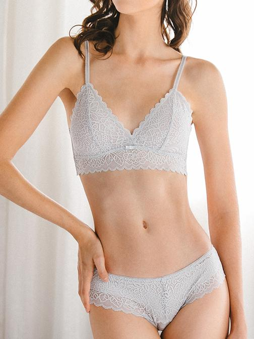 Thin Triangle Sexy Lace Bra Set-Sexy Lace-Fechicin.com