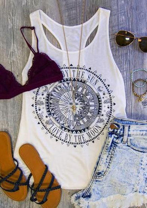 Love By The Moon Tank without Necklace