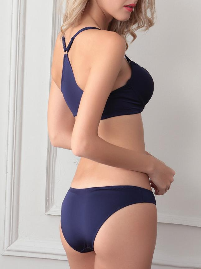 Smooth  Front Close Sexy Bra Underwear Suit