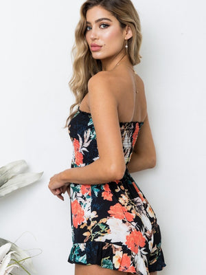 Floral Printed Off Shoulder Jumpsuits