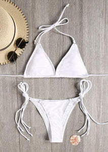 Halter Tie Bikini Set without Necklace