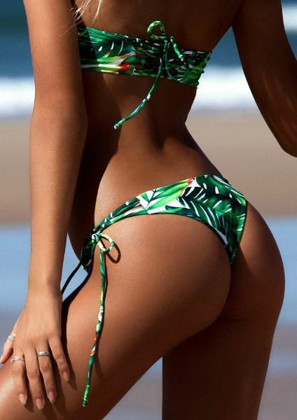 Leaf Hollow Out Bikini Set