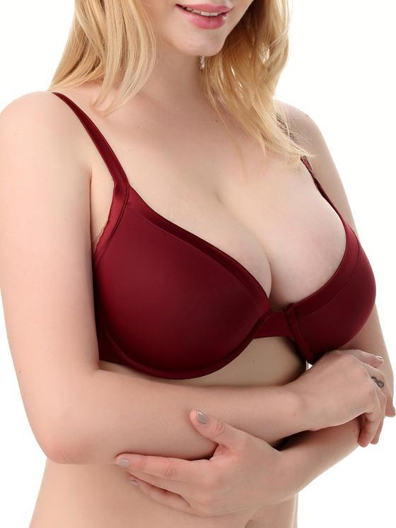 Plus Size No Trace Full Cup Solid Bra