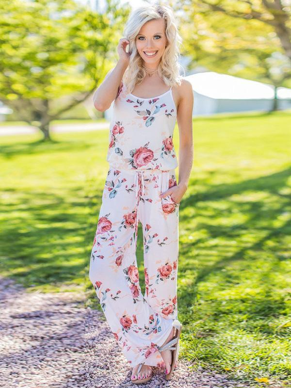 Printed Loose Jumpsuits