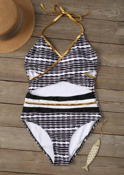 Printed Wrap Sexy Swimsuit
