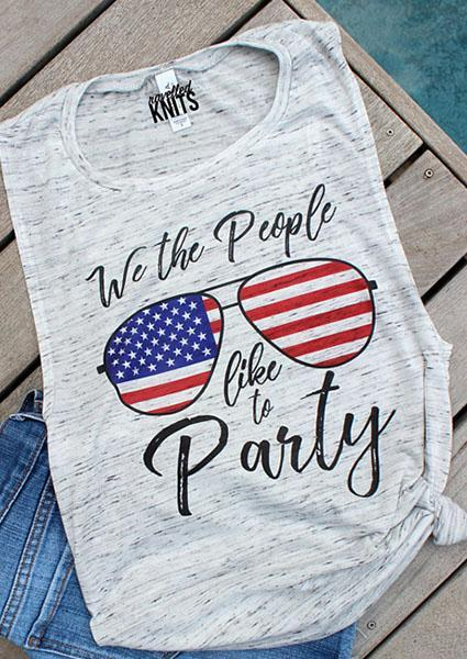 We The People Like To Party Tank Letter Printing Tank