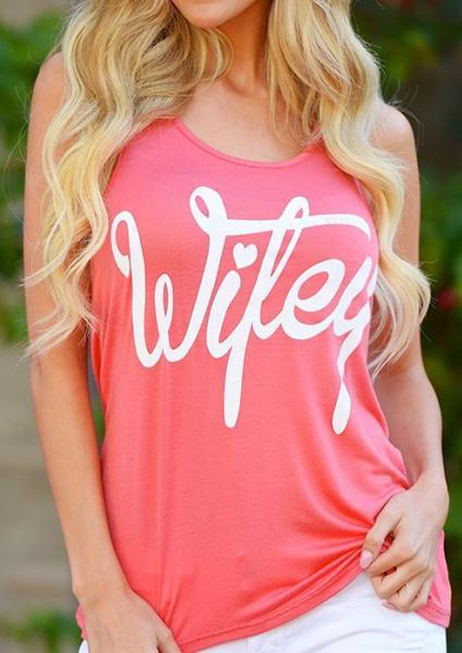 Wifey Printing Letter Tanks