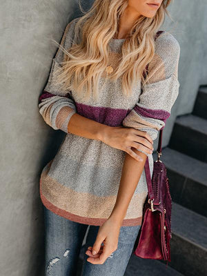 Multicolor Knit Pullover Sweaters