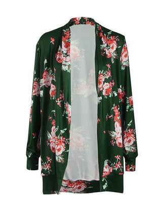 Cotton Printed Flower Blouse-Blouse-Fechicin.com