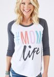Mom Life Baseball T-shirt