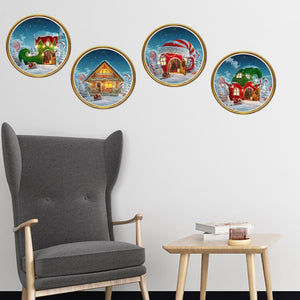 Fechicin.com Holiday grass Christmas Wall Sticker Window Sticker