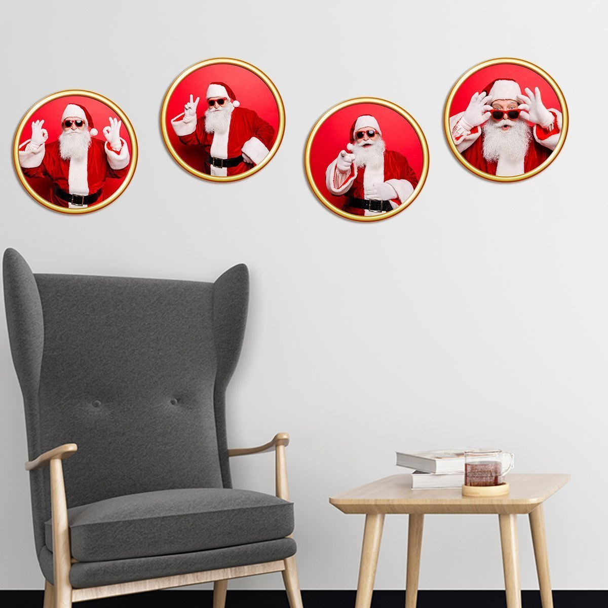 Fechicin.com Holiday RED Christmas Wall Sticker Window Sticker