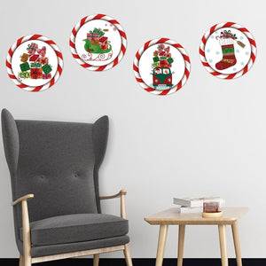 Fechicin.com Holiday WHITE Christmas Wall Sticker Window Sticker