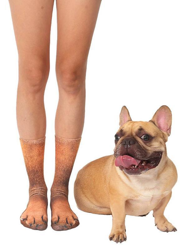 Venuslike.com Socks French Bulldog / One Size Animal Paws Crew Socks