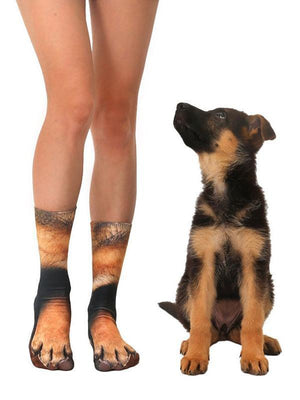 Venuslike.com Socks German Shepherd / One Size Animal Paws Crew Socks