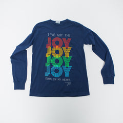 Joy Joy Joy Long Sleeve - Navy