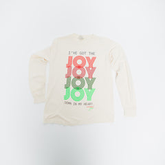 Joy Joy Joy Long Sleeve - Ivory