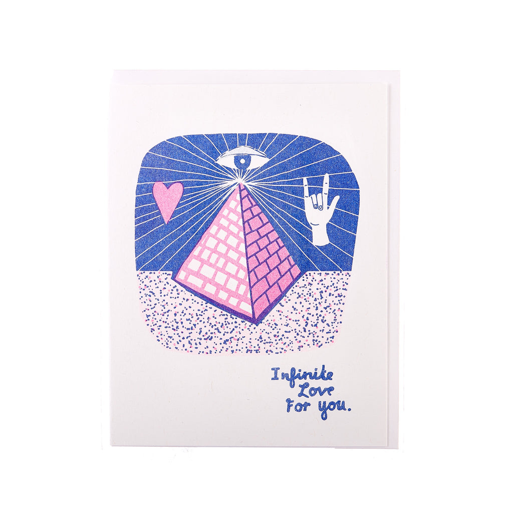 Yellow Owl // Infinite Love Greeting Card