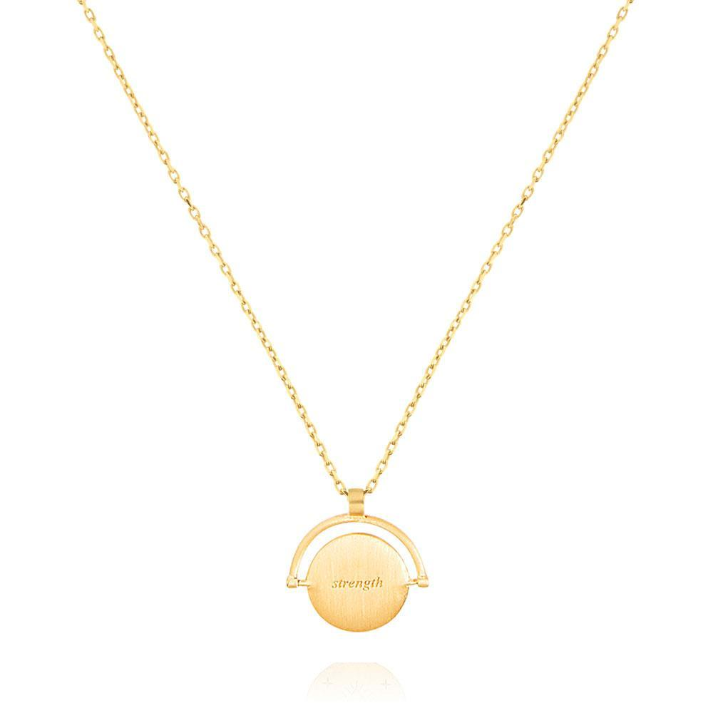 Linda Tahija // Amulets of Alchemy - Strength Necklace - Yellow Gold Plated Sterling Silver