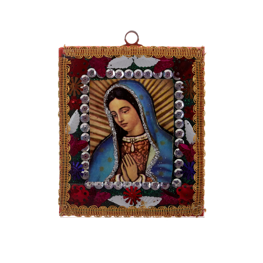 Mexican Handcrafts //  Mary Orange Wall Hanging / Ornament