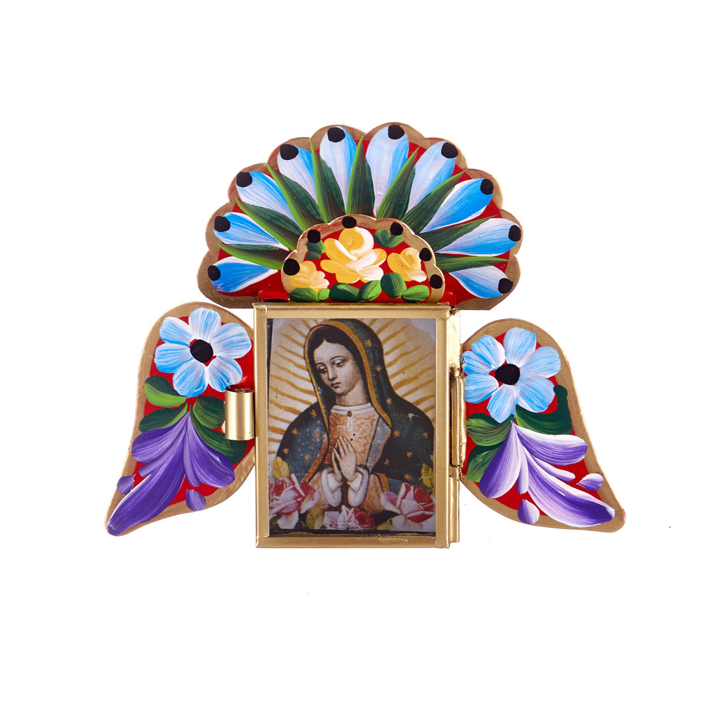 Mexican Handcrafts // Red Mary Wings Wall Hanging / Ornament