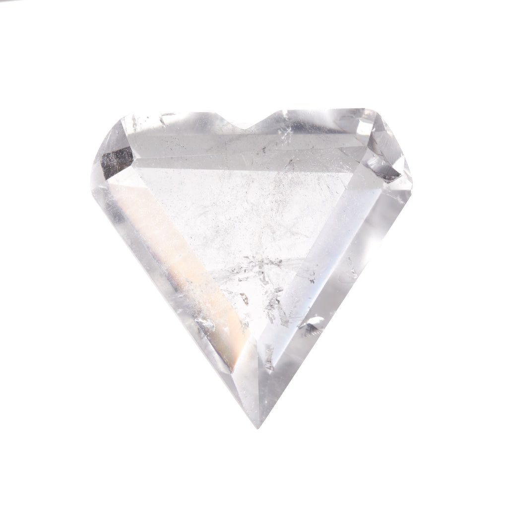 Clear Quartz Faceted Heart #4