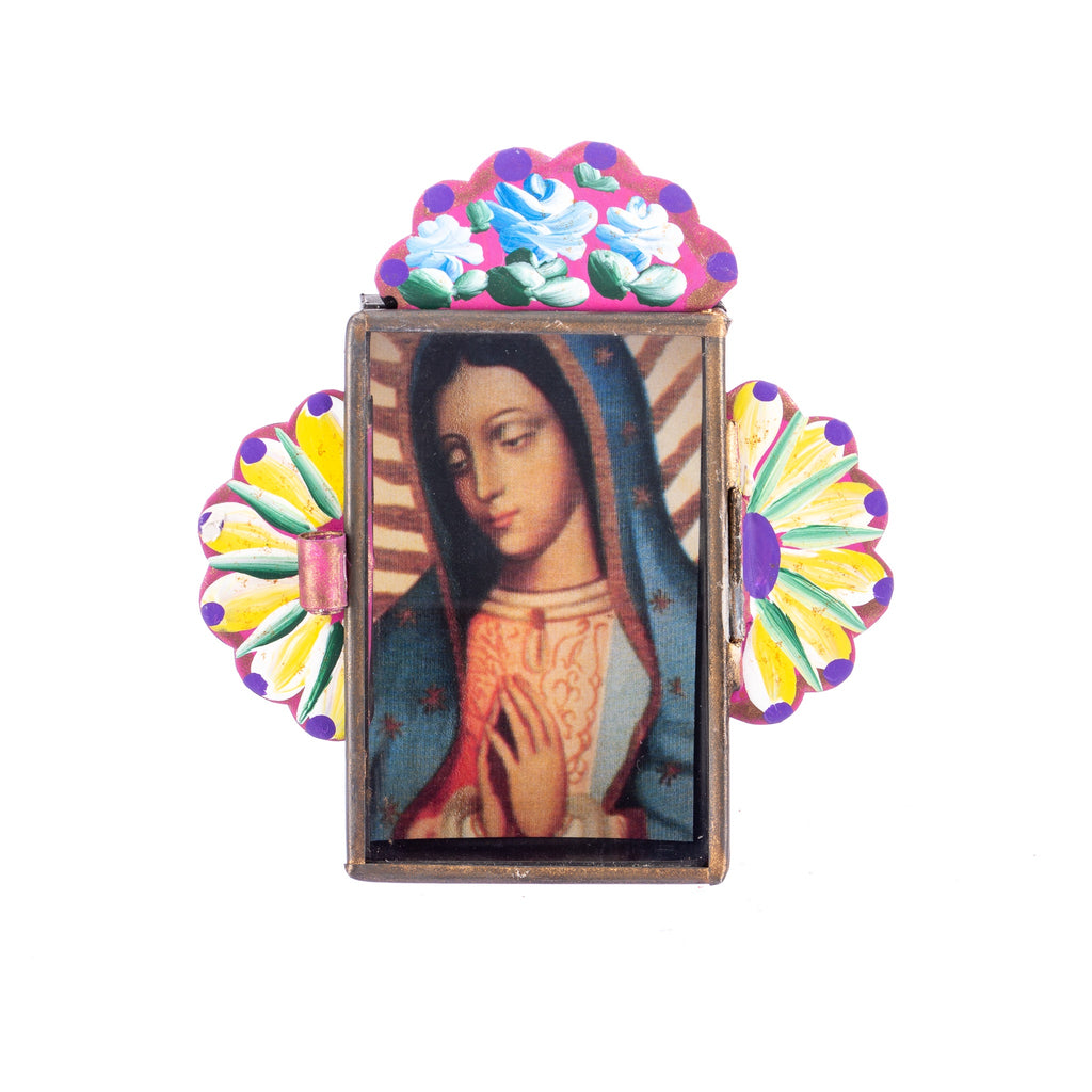 Mexican Handcrafts // Small Virgin Mary Wall Hanging / Ornament