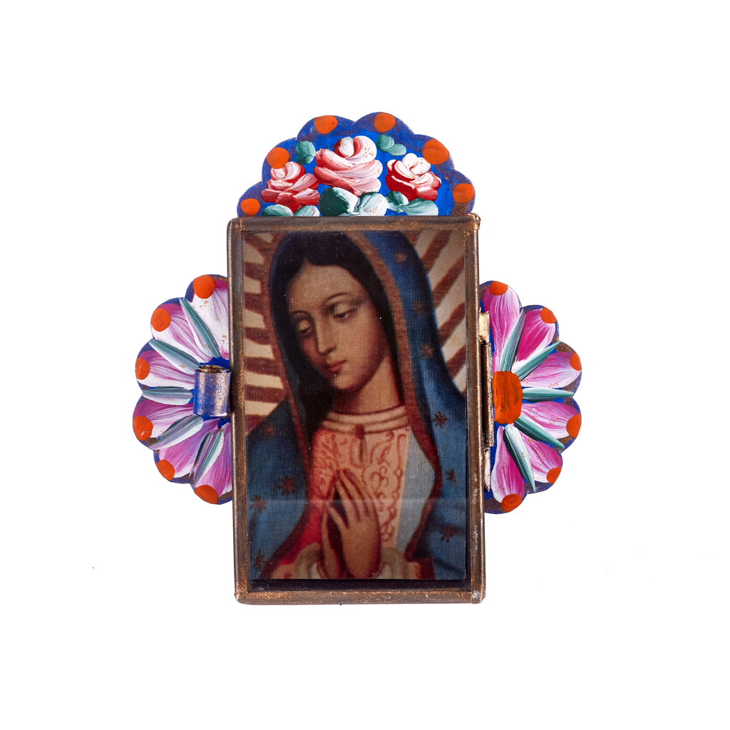 Mexican Handcrafts // Blue Mary Wall Hanging / Ornament