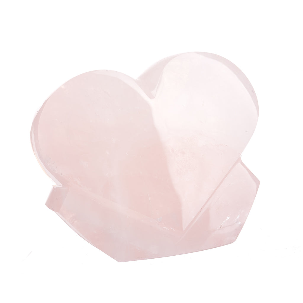 Rose Quartz Heart Sculpture #8