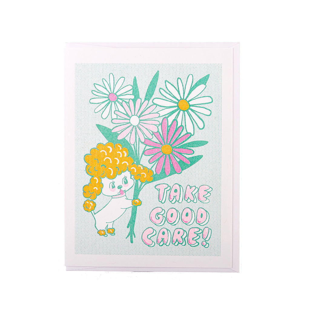 Yellow Owl // Take Good Care Greeting Card