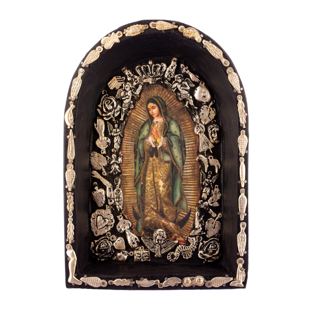 Mexican Handcrafts // Mary Plaque / Wall Hanging - Black