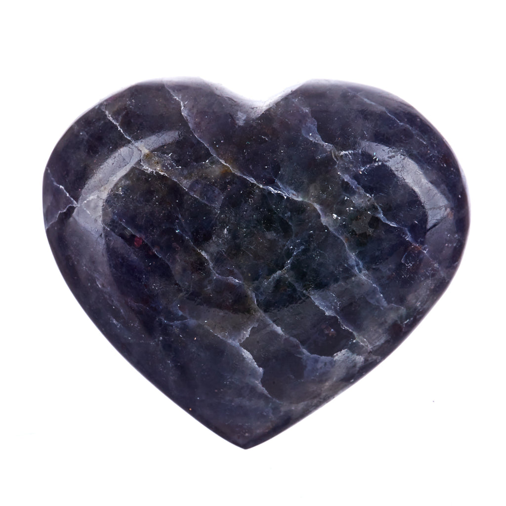Iolite & Sunstone Heart #3
