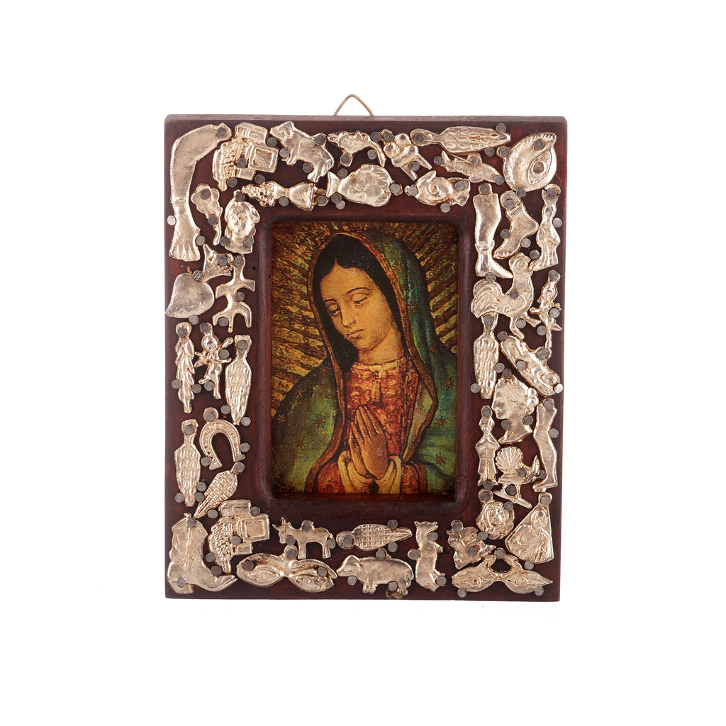 Mexican Handcrafts // Brown Wooden Mary Frame