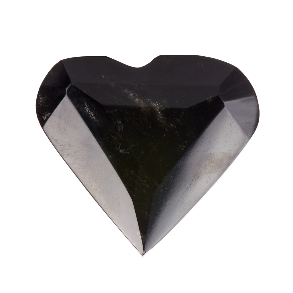 Black Obsidian Faceted Heart #5