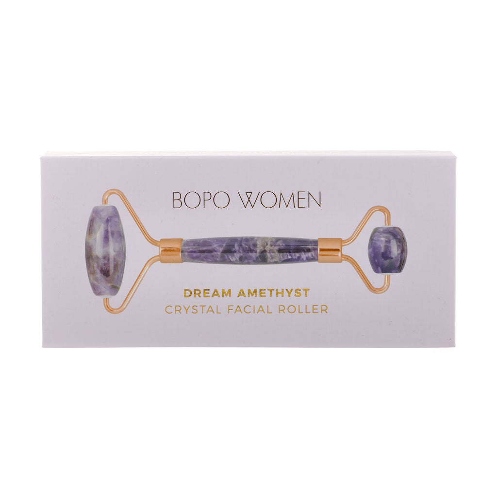 Bopo Women // Amethyst Crystal Facial Roller Boxed