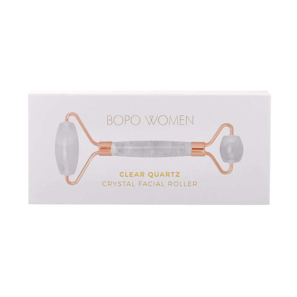 Bopo Women // Clear Quartz Crystal Facial Roller Boxed