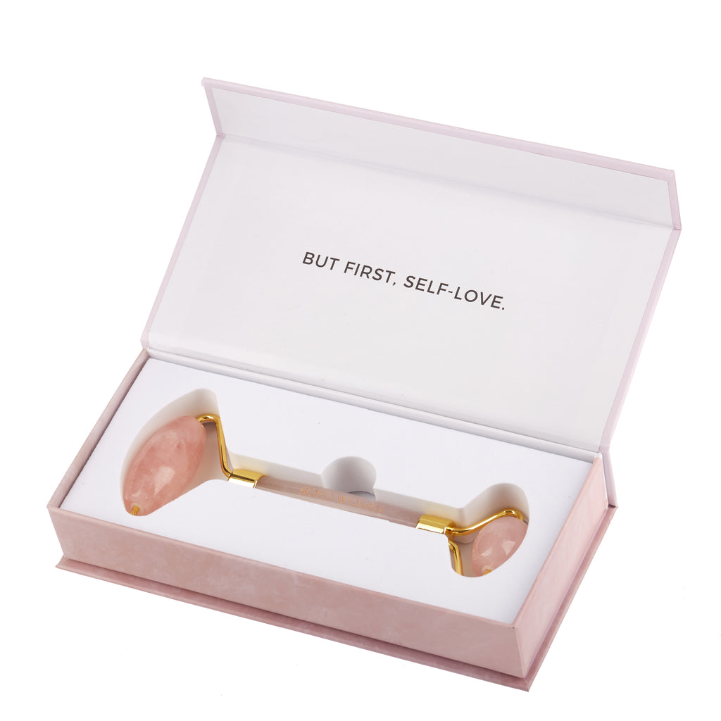 Bopo Women // Rose Quartz Crystal Facial Roller Boxed