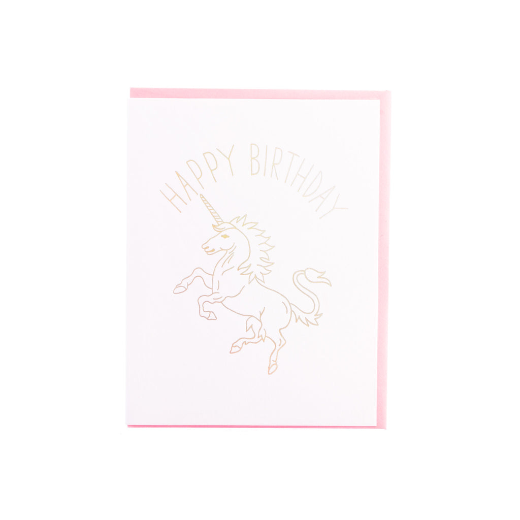 Ash Kahn // Happy Birthday Unicorn Greeting Card