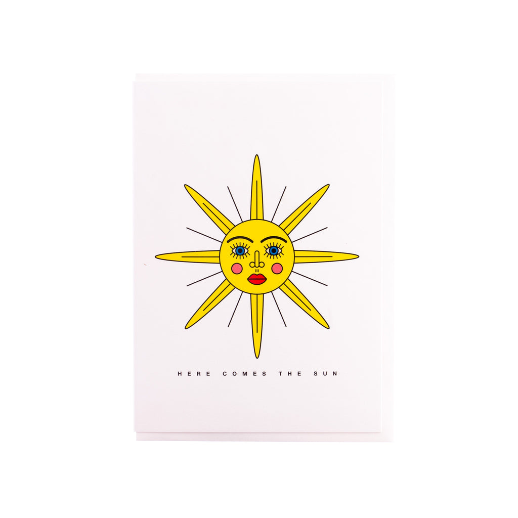 Redfries // Sunface Greeting Card