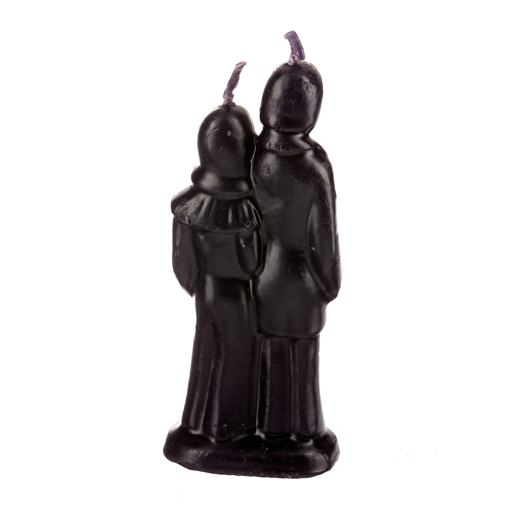 Ritual Figurine Candle // Wedding Couple Black
