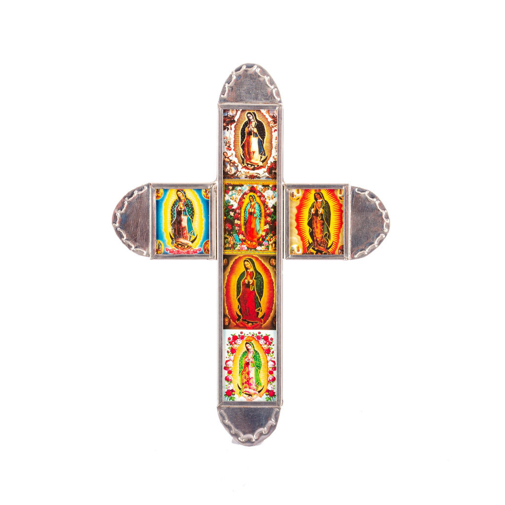 Mexican Handcrafts // Mini Tin Guadalupe Cross  I